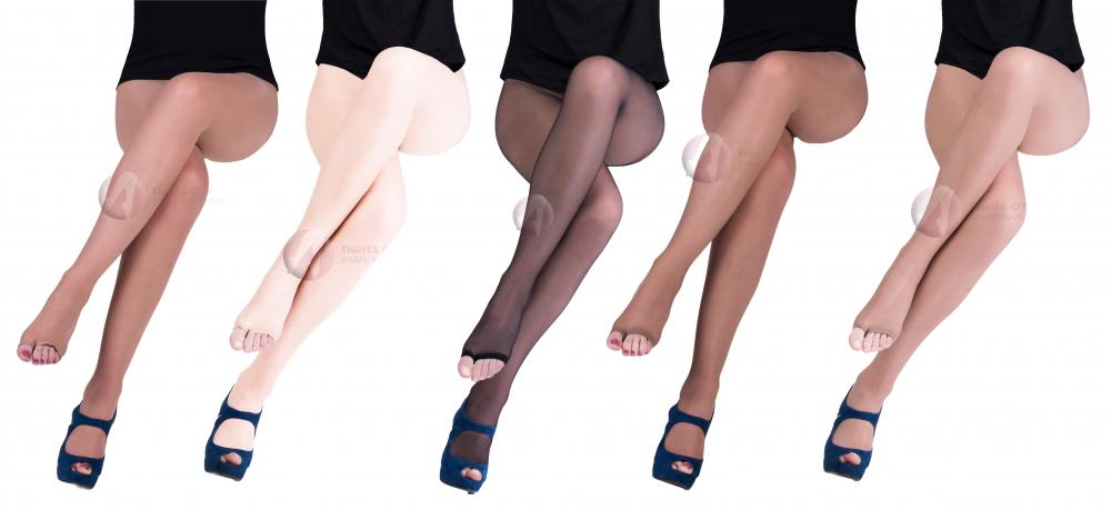 Open Toe Summer Beige Black Sheer Women Tights Stockings 15 DEN 4 Colors Choice